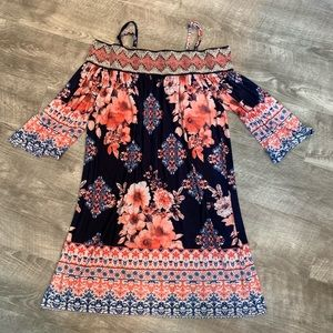 Trixxi Off Shoulder Embroidered Dress Size Small